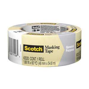Scotch  1.88 in. W x 60 yd. L Tan  High Strength  Masking Tape  1 pk