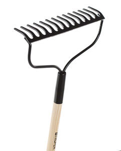 Home Plus  55 in. L x 14 in. W Steel  Bow  Rake  Wood