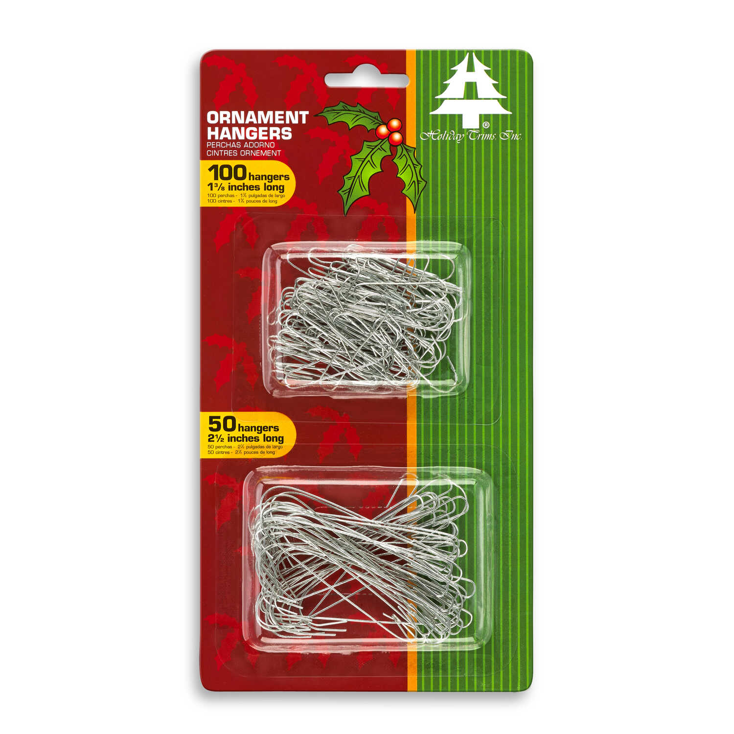 Holiday Trims  Ornament Hooks  Ornament Hangers  Metal  150 pk Silver
