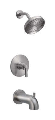 OakBrook  Coastal  Single Handle Tub and Shower  1-Handle  Brushed Nickel  Tub and Shower Faucet