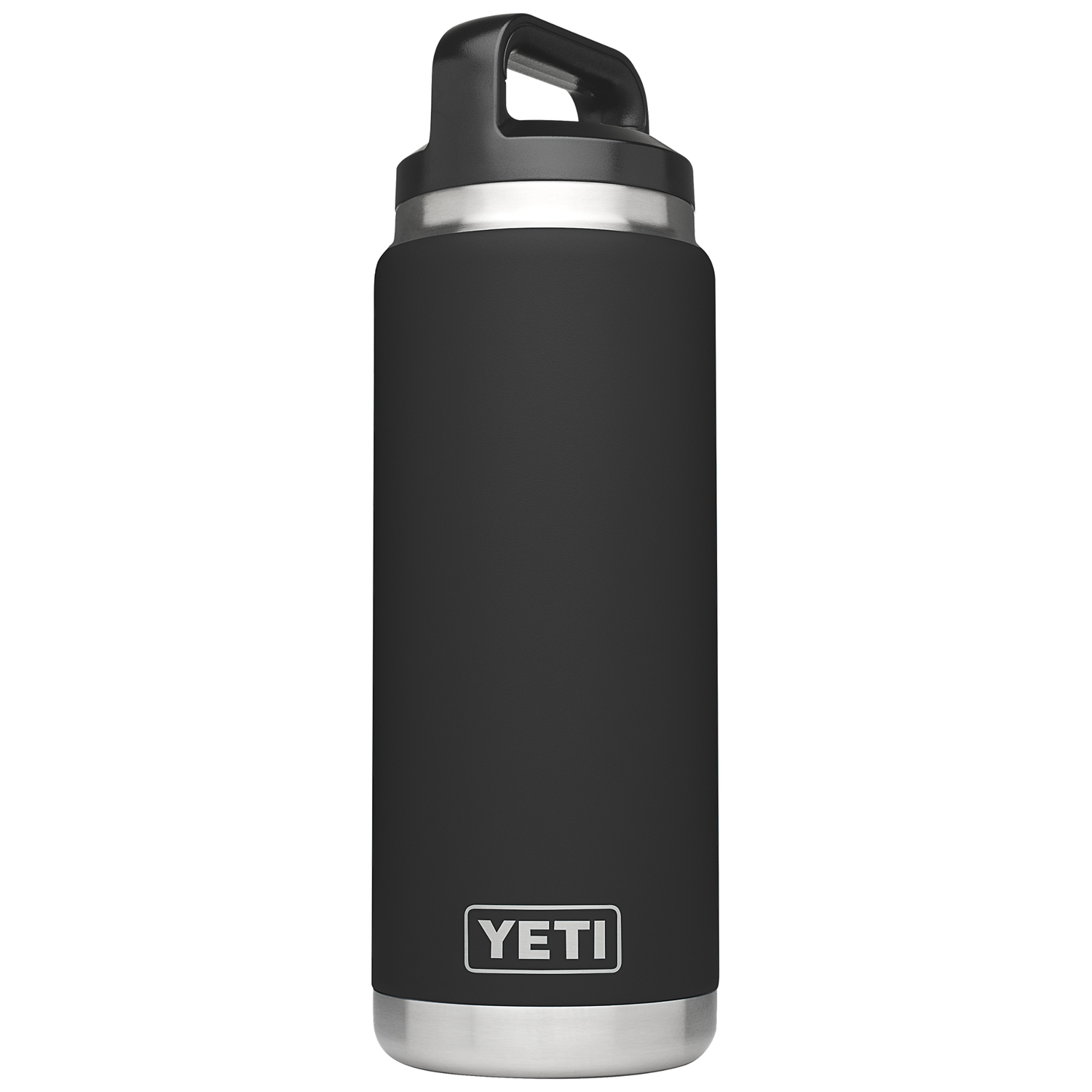 YETI  Rambler  Black  Insulated Bottle  26 oz. Stainless Steel  BPA Free