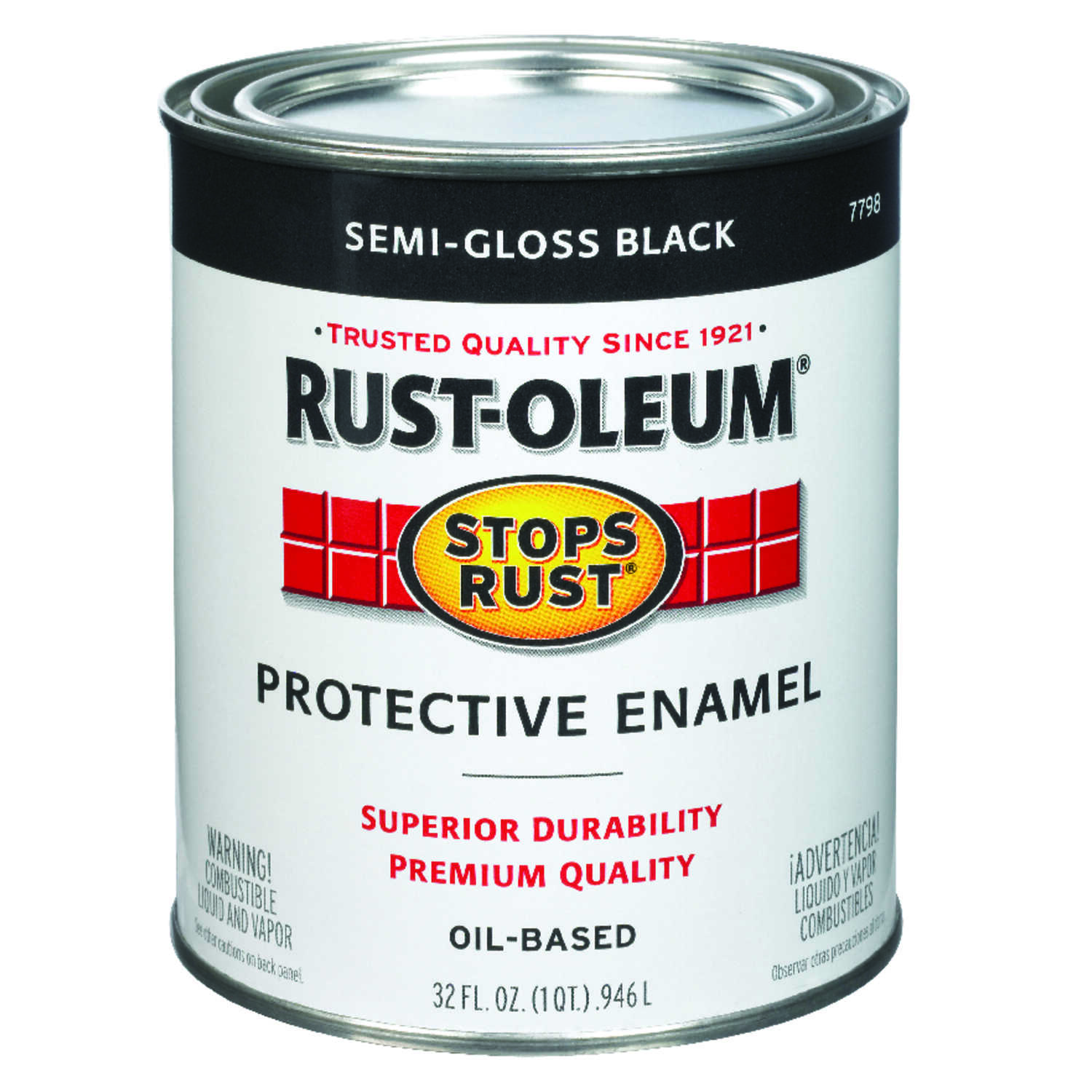 Rust-Oleum Indoor and Outdoor Semi-Gloss Black Protective Enamel 1