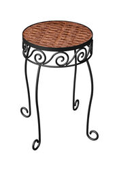 Panacea  16-1/2 in. H Brown  Steel/Wicker  Plant Stand