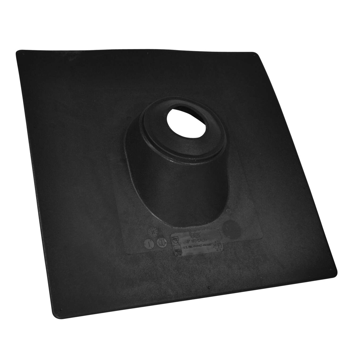 Oatey  No-Calk  12-7/8 in. H x 9-1/4 in. W x 13 in. L Plastic  Rectangle  Black  Roof Flashing
