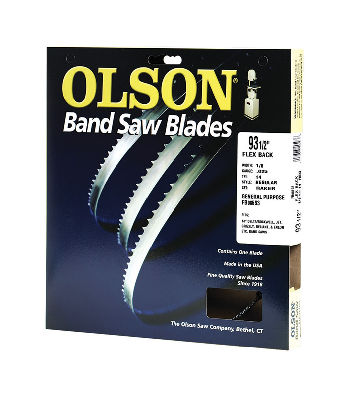 Olson  93.5  L x 0.1 in. W x 0.03 in.  Carbon Steel  Band Saw Blade  14 TPI Regular  1 pk