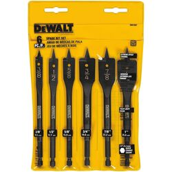 DeWalt High Speed Steel Spade Drill Bit Set 6 pc.