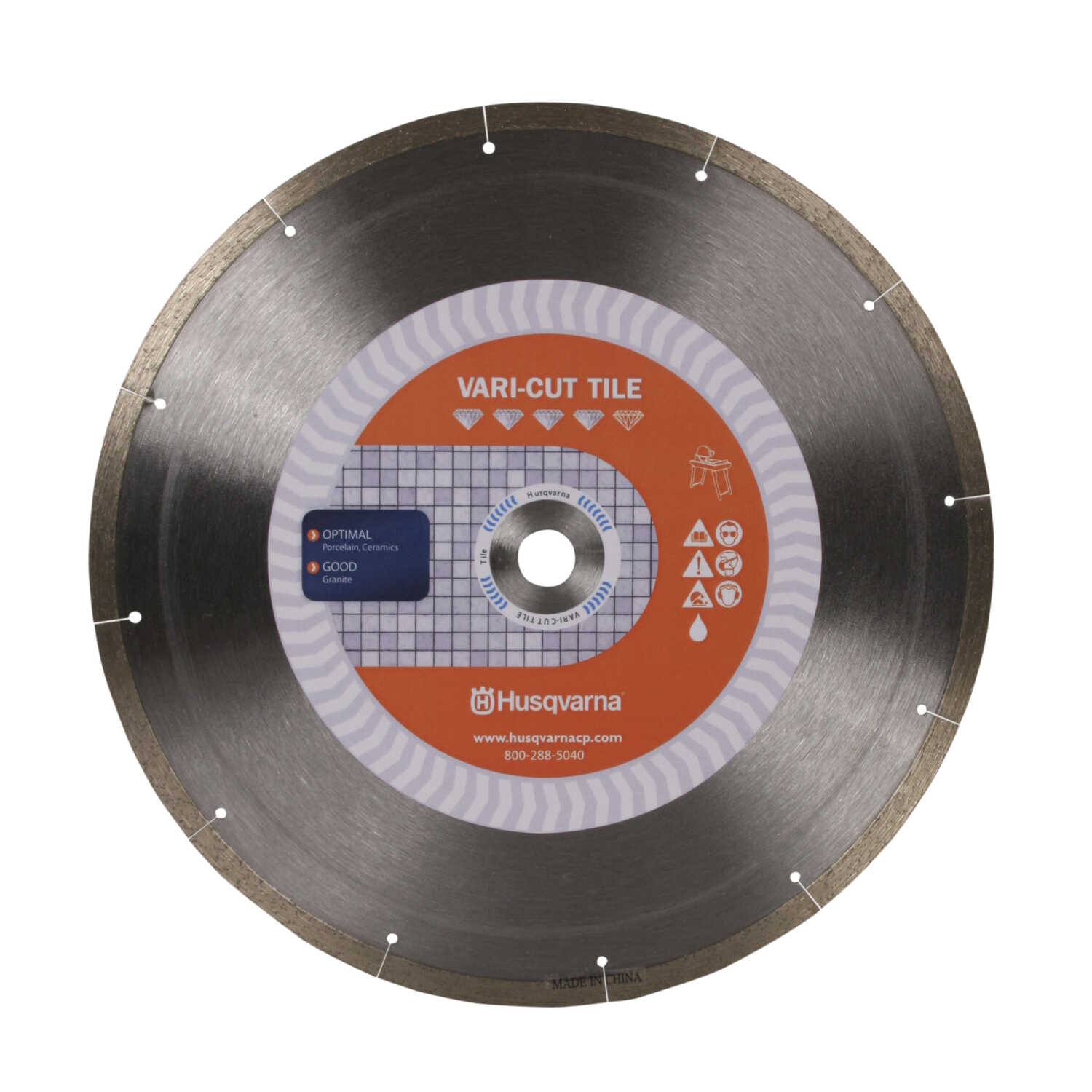 Husqvarna  10  Vari-Tile  Diamond Saw Blade  1 pk