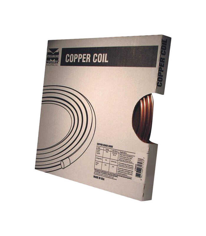 Mueller  3/8 in. Dia. x 10 ft. L Refer  Copper Refrigeration Tubing