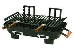 Marsh Allen  Hibachi  Charcoal  Table Top  Grill  Black  18 in.