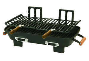 Marsh Allen  Hibachi  Charcoal  Grill  Black  18 in. Table Top