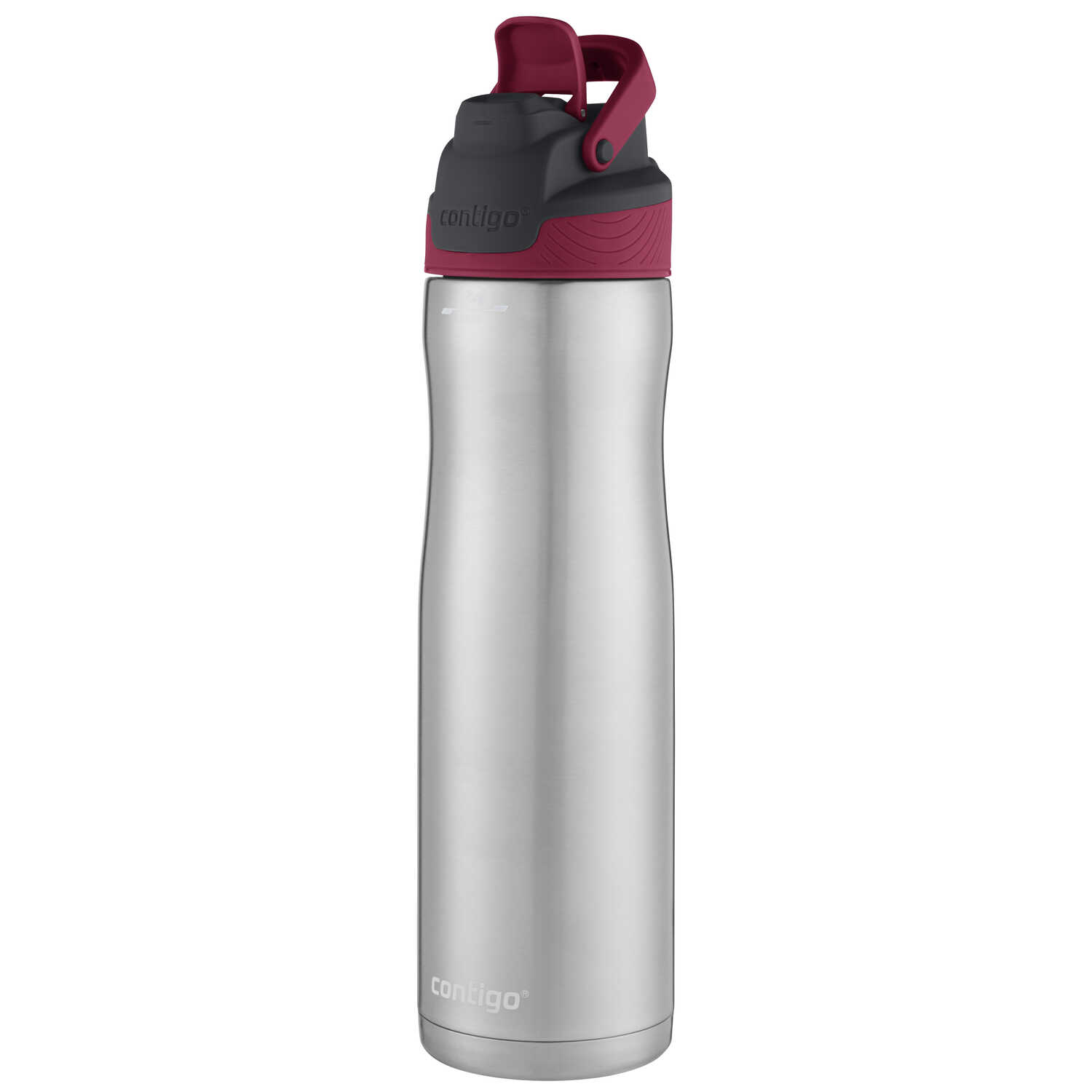 Contigo  AutoSeal Chill  24 oz. Water Bottle  Maroon/Silver