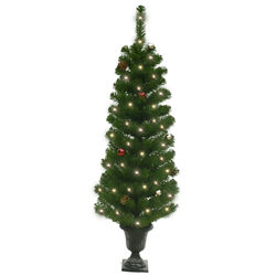 Celebrations Home  4 ft. Potted Douglas Fir  Prelit 35 count Artificial Tree
