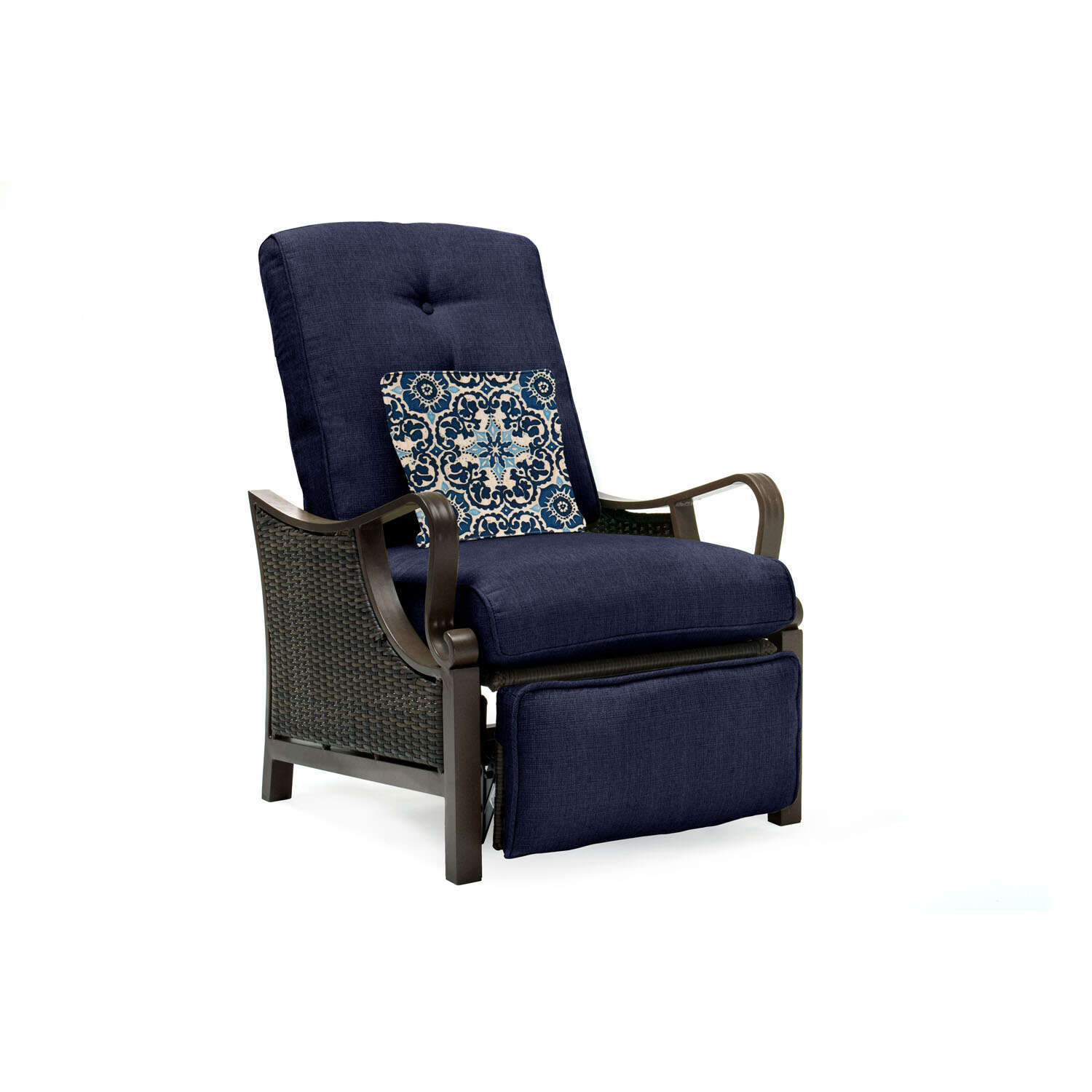 Hanover  Ventura  1 pc. Steel Frame Reclining Chair  Navy Blue