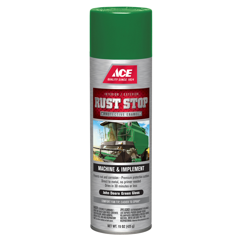 Ace  Rust Stop  Gloss  John Deere Green  Machine And Implement Enamel Spray Paint  15 oz.