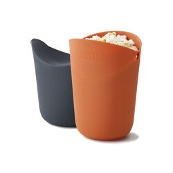 Joseph Joseph M-Cuisine Black/Orange 8 oz. Air Microwave Popcorn Popper