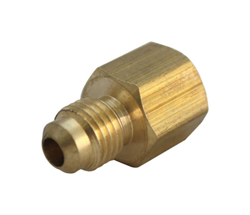 JMF  3/8 in. Flare   x 3/4 in. Dia. Female  Brass  Flare Adapter