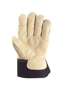 Wells Lamont  L  Split Cowhide Leather  Black/Brown  Gloves