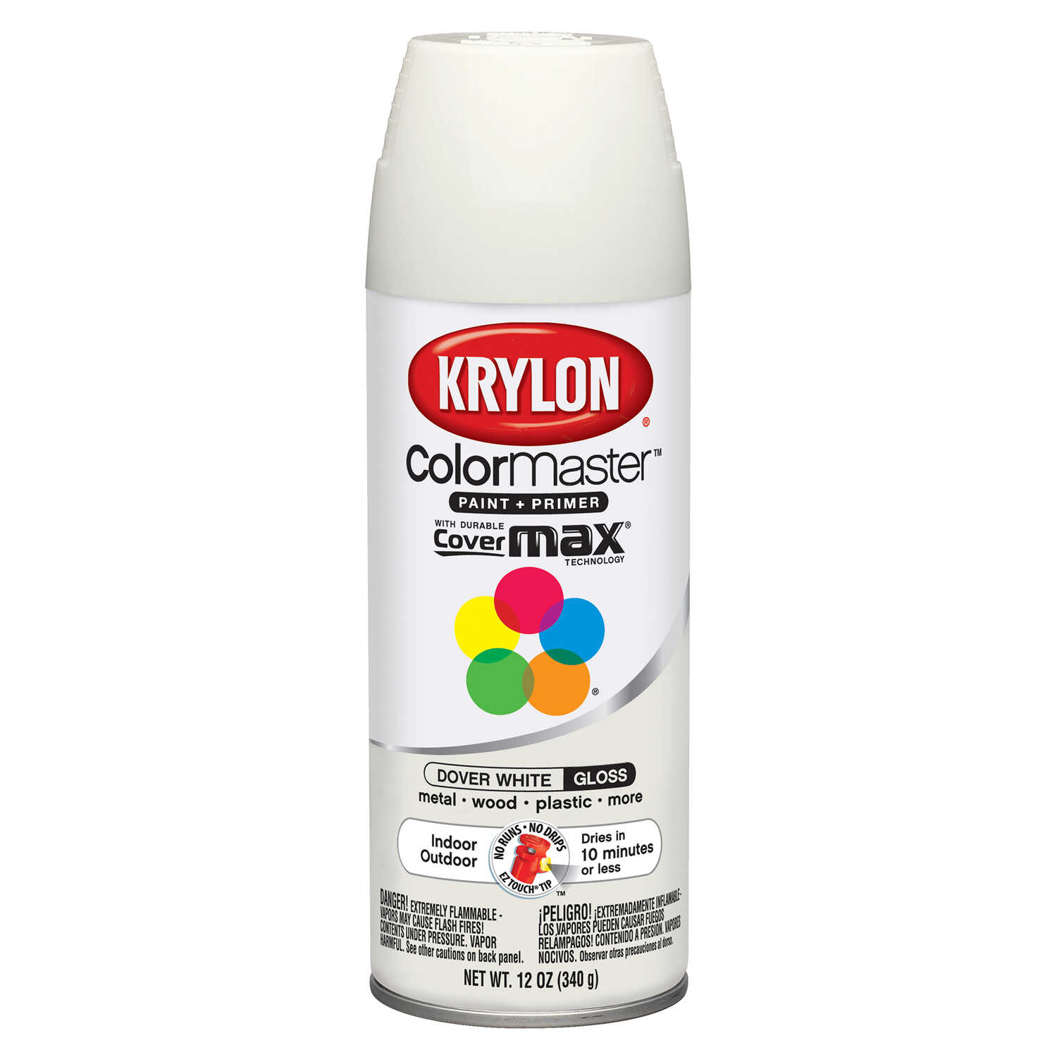 Krylon  ColorMaster  Gloss  Spray Paint  12 oz. Dover White