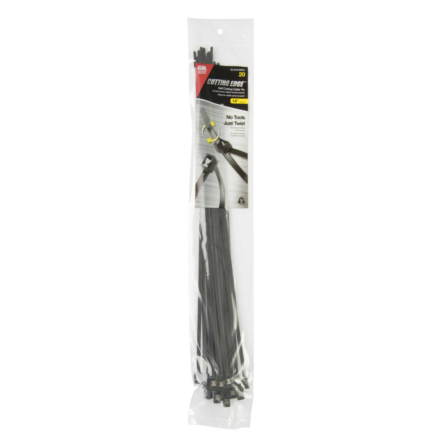 Gardner Bender  14 in. L Black  Cable Tie  20 pk