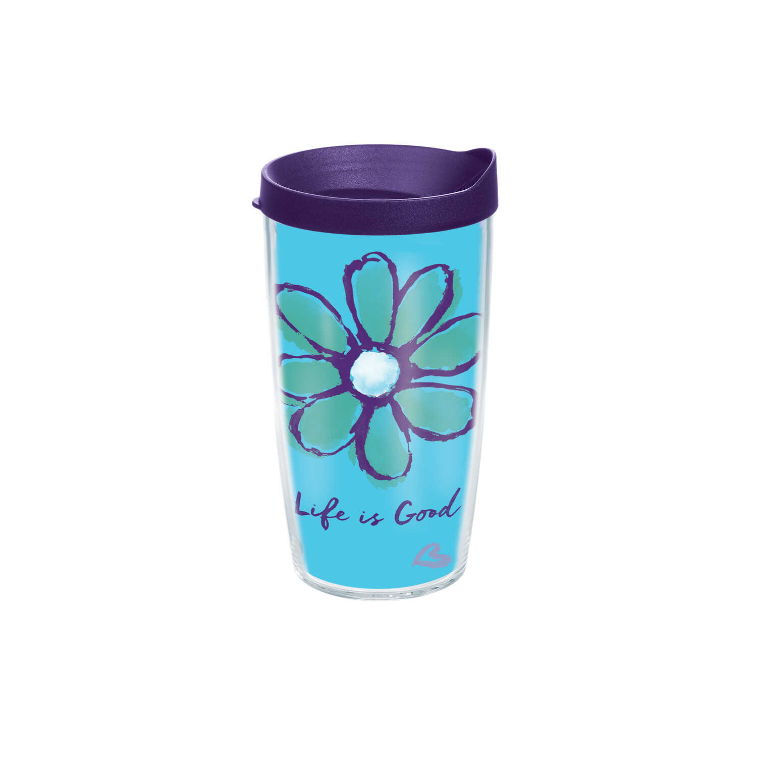 Tervis  Life Is Good  Clear  Tritan  Daisy  BPA Free 16 oz. Tumbler