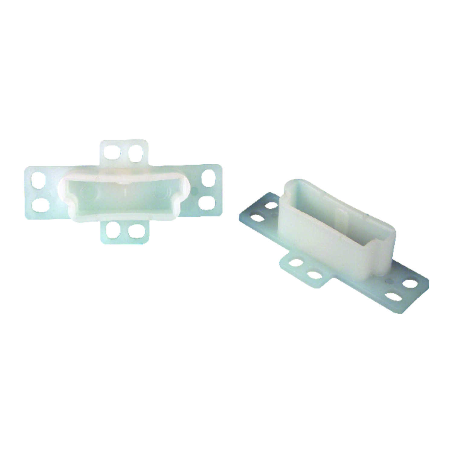 US Hardware  2-3/4 in. L Plastic  Rear Mounting Bracket  Drawer  2 pk