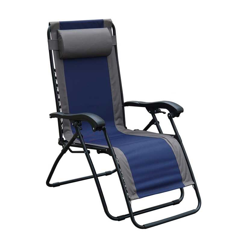 Living Accents  Black  Steel  Relaxer Chair  Adjustable Backrest