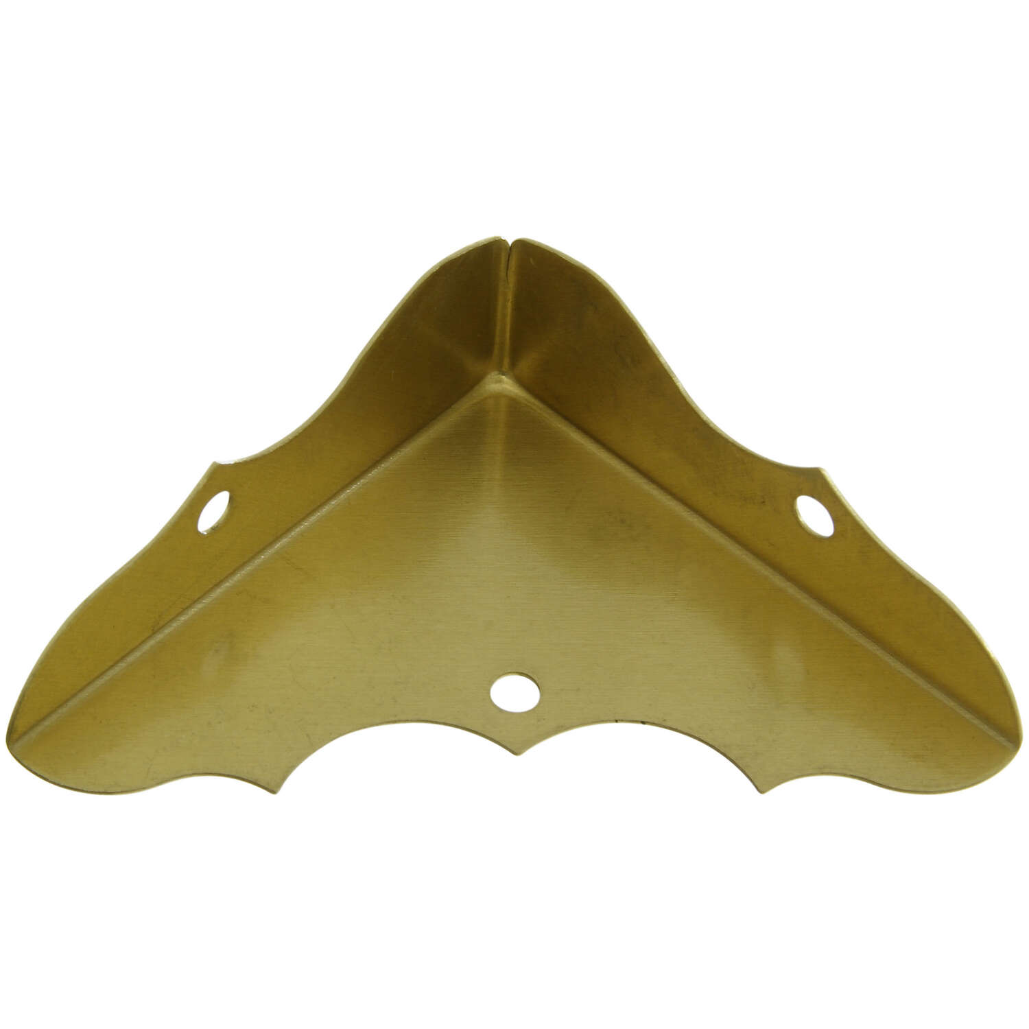 National Hardware  0.63 in. H x 1.75 in. W x 0.02 in. D Solid Brass  Outside  Decorative Corner Brac