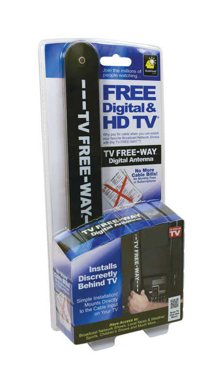 Telebrands  Indoor and Outdoor  HD  Antenna  1 pk