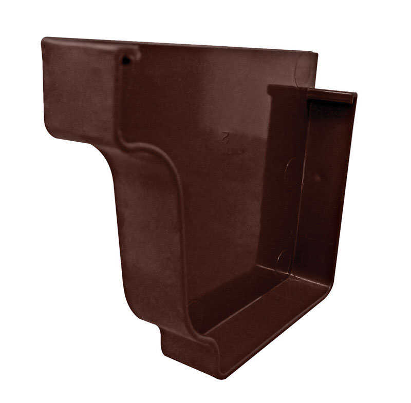 Genova  5 in. H x 5 in. W x 5.1  L Vinyl  K  Brown  Left End Cap