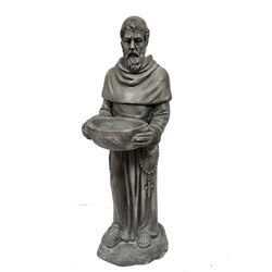 Infinity  Cement  Gray  22.44 in. St. Francis  Statue