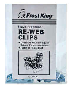 Frost King  Aluminum  Chair Re-Webbing Clips