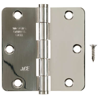 Ace  3-1/2 in. L Stainless Steel  Residential Door Hinge  1 pk