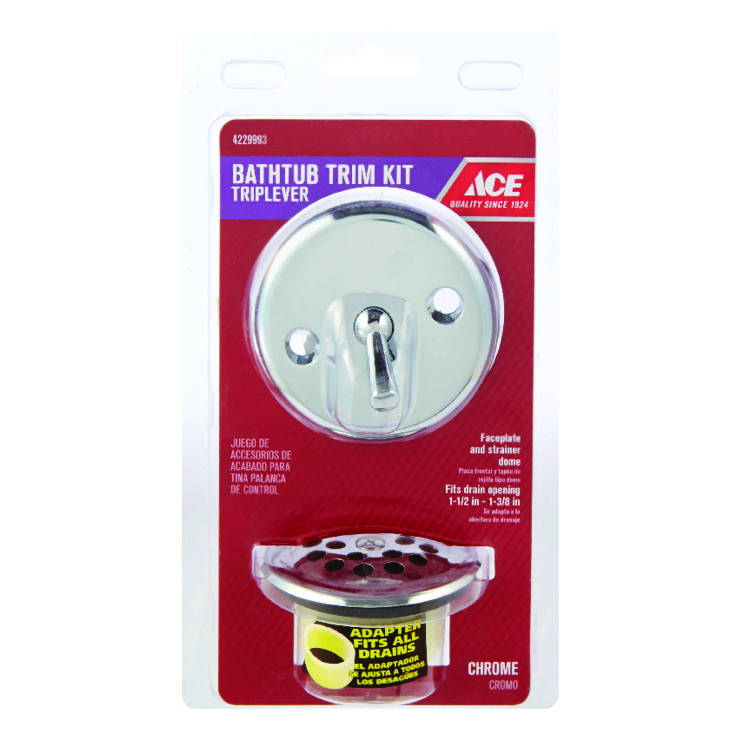 Ace  Chrome  Trim Kit  1-1/2 - 1-3/8 in. Dia.