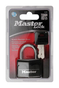 Master Lock  1-5/16 in. H x 1/2 in. W x 1-9/16 in. L Vinyl Covered  Double Locking  Padlock  1 pk