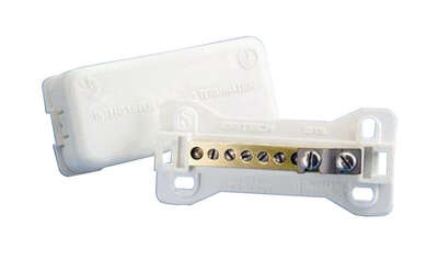 Erico  Polycarbonate/Stainless Steel  Intersystem Bonding Termination  10 pk