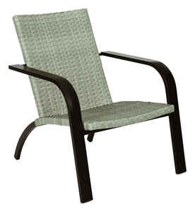 Living Accents  Brown  Aluminum  Chat Chair