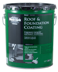 Black Jack  Gloss  Black  Asphalt  Roof And Foundation Coating  4.75 qt.
