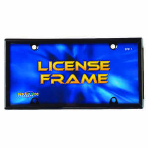 Custom Accessories  Black  Metal  License Plate Frame