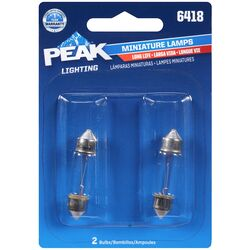 Peak  Halogen  Indicator  Miniature Automotive Bulb  6418