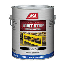 Ace  Rust Stop  Indoor and Outdoor  Gloss  Safety Blue  Rust Prevention Paint  1 gal.