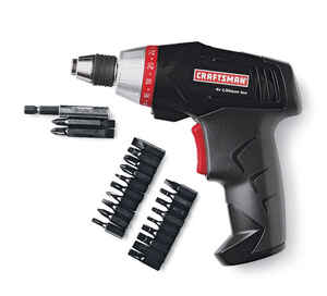 Craftsman  1/4 in. Cordless  Battery Operated Screwdriver  4 volts 600 rpm 1 pc.