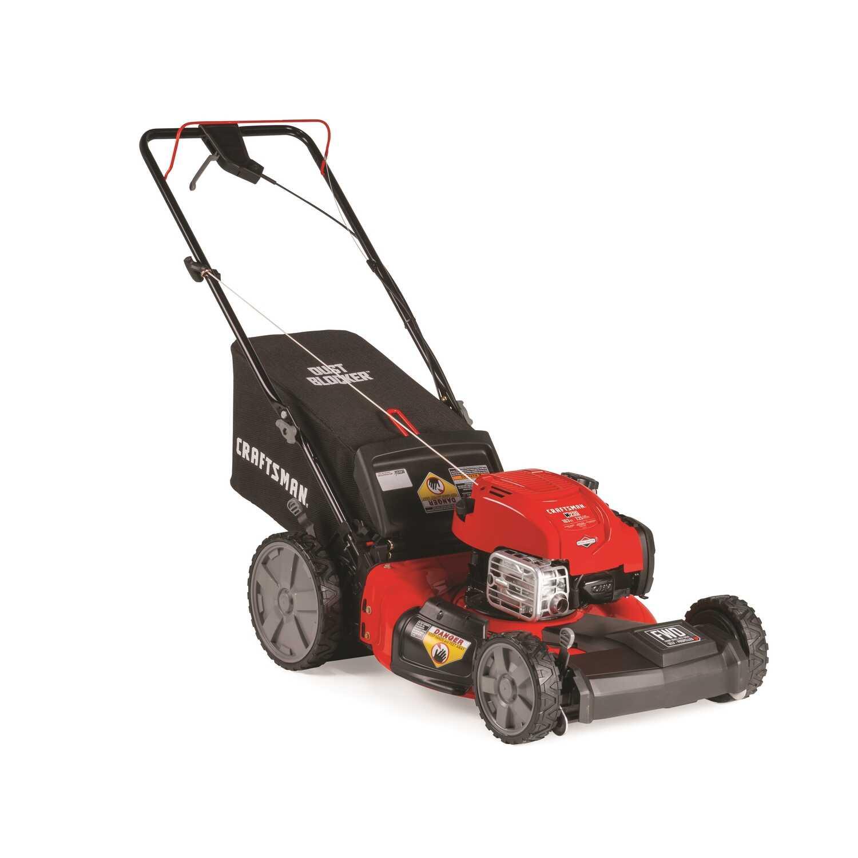 Craftsman 21 In W 163 Cc Self Propelled Mulching Capability Lawn Mower