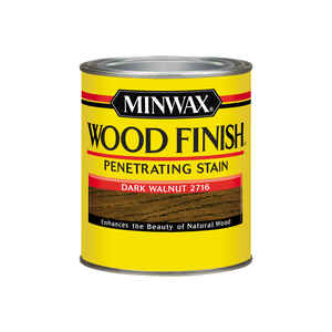 Minwax  Wood Finish  Semi-Transparent  Dark Walnut  Oil-Based  Oil  Stain  1 qt.