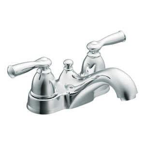 Moen  Banbury  Two Handle  Lavatory Faucet  4 in. Chrome
