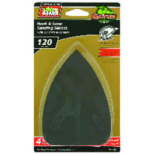 Gator  Mouse  5 in. L x 3-1/2 in. W Medium  Zirconium Oxide  Mouse Sandpaper  4 pk 120 Grit