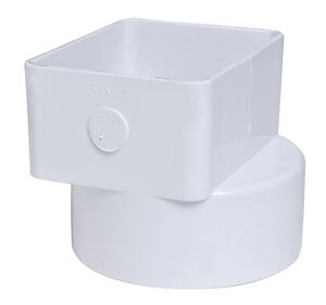 Plastic Trends  3 in. Hub   x 4 in. Dia. Female  PVC  Downspout Adapter