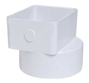 Plastic Trends  3 in. Hub   x 4 in. Dia. Female  Downspout Adapter