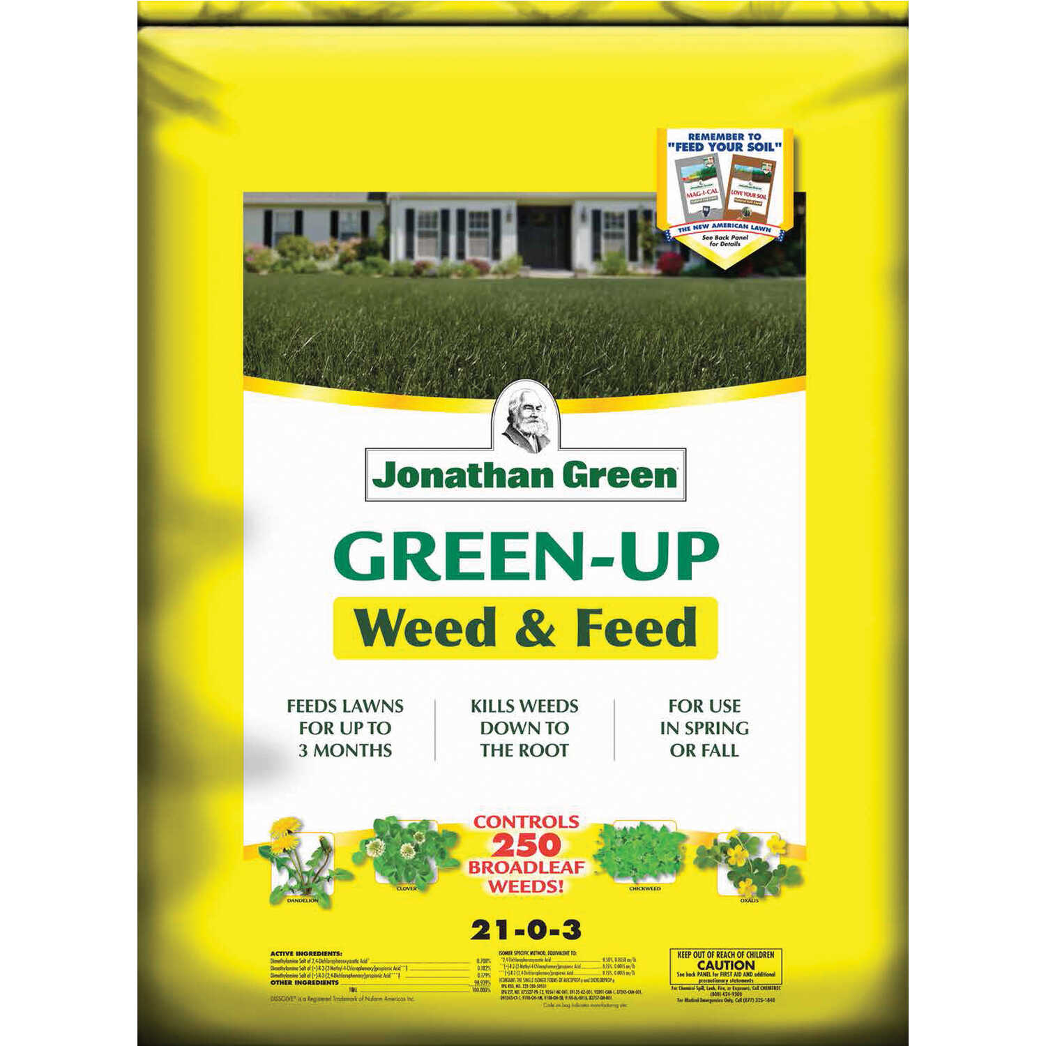 Jonathan Green  Green-Up  21-0-3  Weed and Feed  For All Grass Types 45 lb. 15000 sq. ft.