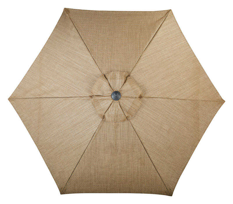 Living Accents  Palermo  9 ft. Tiltable Brown  Patio Umbrella