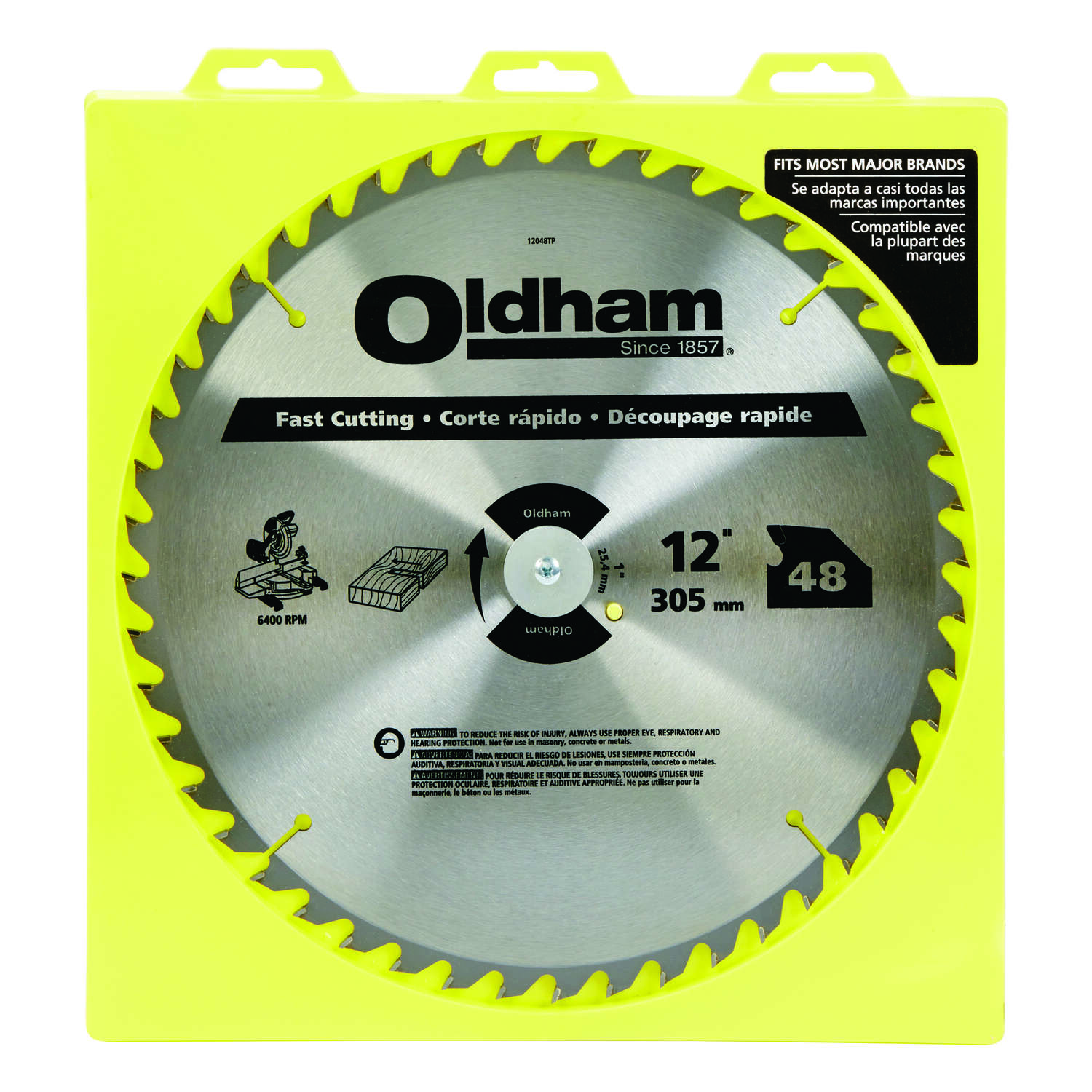 Oldham  12  Circular Saw Blade  Carbide Tip Steel  1 pk 48 teeth 1
